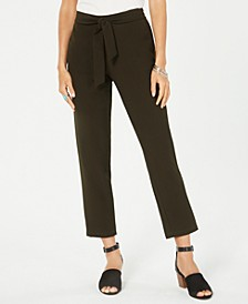 Petite Tie-Waist Pants, Created for Macy's