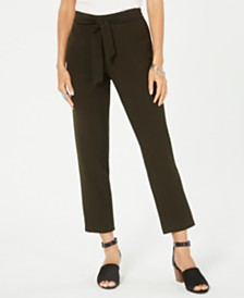 Style & Co Tie-Waist Tapered Pants, Created for Macy's