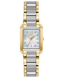 Eco-Drive Women's Bianca Diamond-Accent Two-Tone Stainless Steel Bracelet Watch 22mm