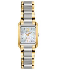 Citizen Eco-Drive Women's Bianca Diamond-Accent Two-Tone Stainless Steel Bracelet Watch 22mm