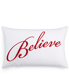 """Charter Club Damask Designs Word 12"""" x 18"""" Decorative Pillow, Created for Macy's"""