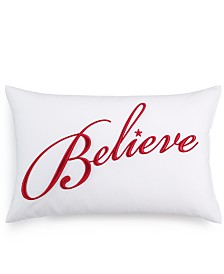 "Charter Club Damask Designs Word 12"" x 18"" Decorative Pillow, Created for Macy's"