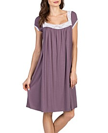 Lacy Maternity and Nursing Nightgown