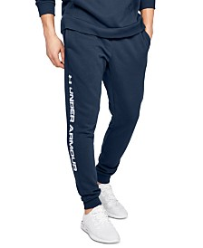 Under Armour Men's Rival Wordmark Fleece Joggers