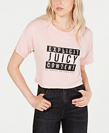 Cropped Cotton Graphic T-Shirt