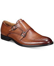 Alfani Men's Leather Sheridan Double-Monk-Strap Oxfords, Created for Macy's