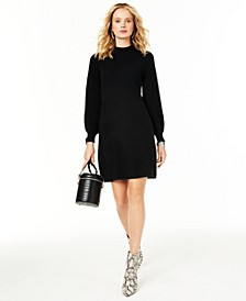 Mock-Neck Cashmere Sheath Dress, Created for Macy's