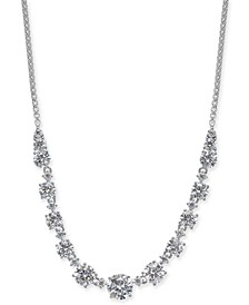 """Danori Gold-Tone or Silver-Tone Cubic Zirconia 18"""" Statement Necklace, Created for Macy's"""