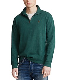 Men's Big & Tall Estate-Rib Quarter-Zip Pullover Sweater