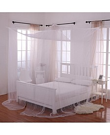 Cottonloft Palace 4-Post Bed Sheer Mosquito Net Panel Canopy