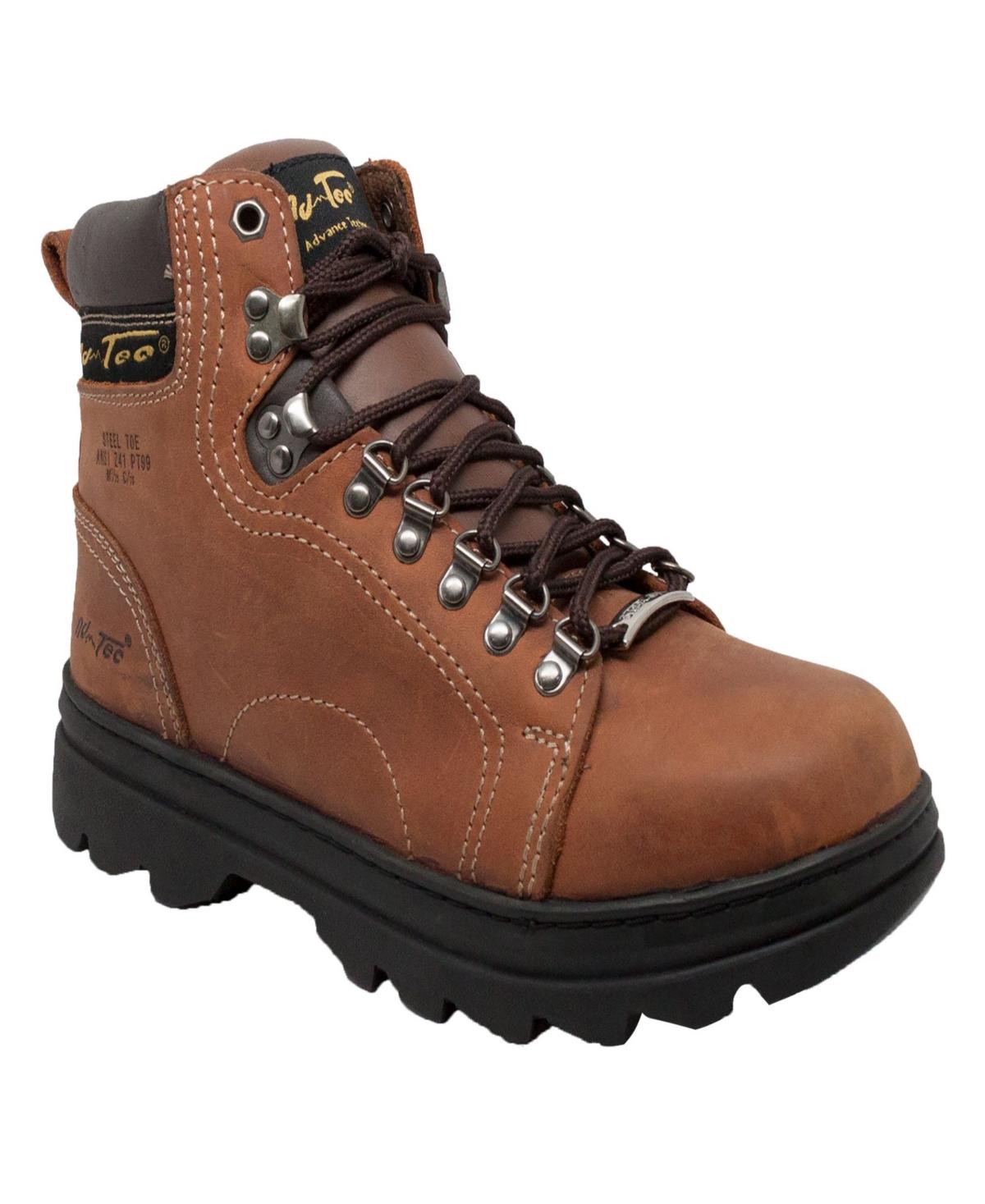 """AdTec Men's 6"""" Steel Toe Hiker Boot Men's Shoes"""