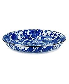 "Golden Rabbit Cobalt Swirl Enamelware Collection 10"" Pasta Plate"