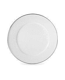 """Golden Rabbit Solid White Enamelware Collection 12.5"""" Charger Plate"""