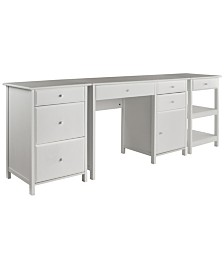 Winsome Wood Delta 3-Piece Home Office Set