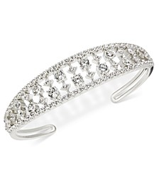 Danori Silver-Tone Cubic Zirconia Cuff Bracelet, Created for Macy's
