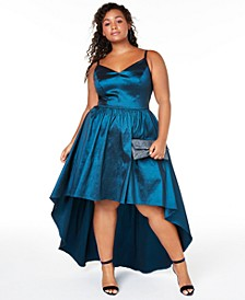 Trendy Plus Size High-Low Dress