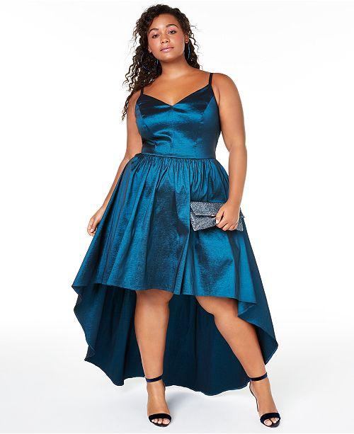 Trendy Plus Size High-Low Dress