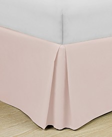 """Home Basic Easy Fit Microfiber Pleated 14"""" Drop Full Bedskirt"""