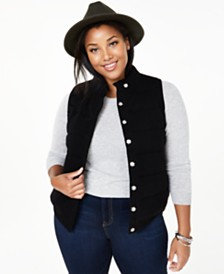 Charter Club Plus Size Cashmere Vest, Created for Macy's
