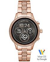 b9c3ab23a94 Michael Kors Access Unisex Runway Rose Gold-Tone Stainless Steel Bracelet  Touchscreen Smart Watch 41mm