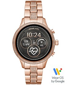 Michael Kors Access Unisex Runway Rose Gold-Tone Stainless Steel Bracelet Touchscreen Smart Watch 41mm, Powered by Wear OS by Google™
