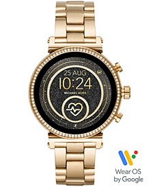 Access Women's Sofie Heart Rate Gold-Tone Stainless Steel Bracelet Touchscreen Smart Watch 41mm, Powered by Wear OS by Google™