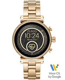 Michael Kors Access Women's Sofie Heart Rate Gold-Tone Stainless Steel Bracelet Touchscreen Smart Watch 41mm, Powered by Wear OS by Google™