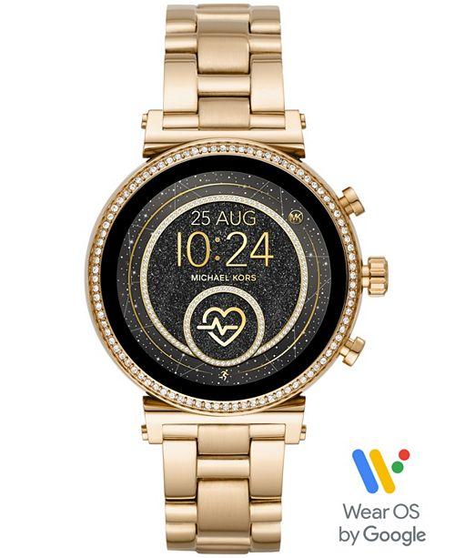 Michael Kors Access Women's Gen 4 Sofie Gold-Tone Stainless Steel Bracelet Touchscreen Smart Watch 41mm, Powered by Wear OS by Google™