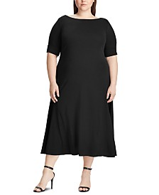 Lauren Ralph Lauren Plus Size Boat-Neck Knit Dress