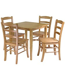 Winsome Wood Groveland 5-Piece Dining Table with 4 Chairs