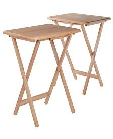 Winsome Wood Alex 2-Piece Snack Table Set