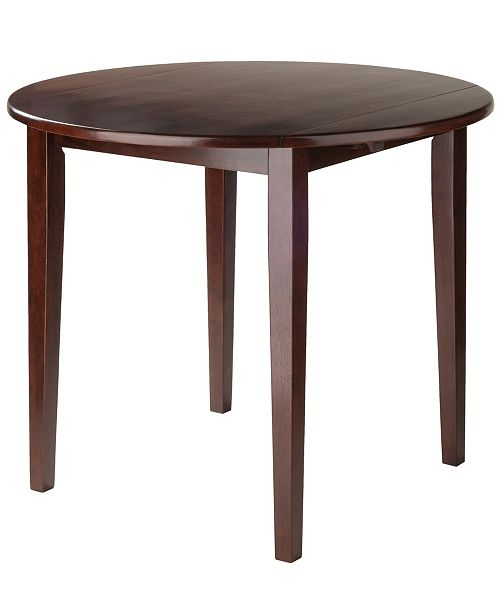 """Winsome Clayton 36"""" Round Drop Leaf Table"""