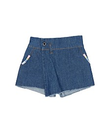 Flapdoodles Little Girls Denim Skort