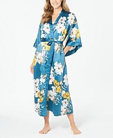 INC Women's Floral-Print Kimono Robe