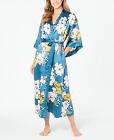 I.N.C. Women's Floral-Print Kimono Robe