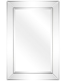 "Solid Wood Frame Covered with Beveled Clear Mirror Panels - 24"" x 36"""