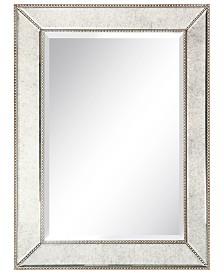 "Empire Art Direct Solid Wood Frame Covered with Beveled Antique Mirror - 40"" x 30"""