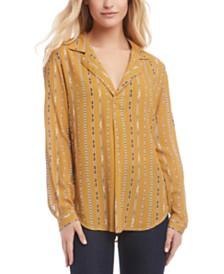 Karen Kane Printed Popover Shirt