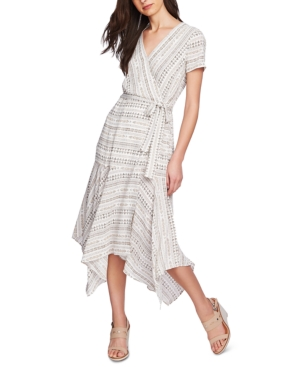 1. State Tribal-Print Maxi Wrap Dress