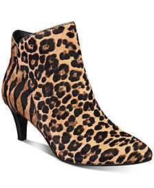 Alfani Women's Harpper Kitten-Heel Booties, Created for Macy's