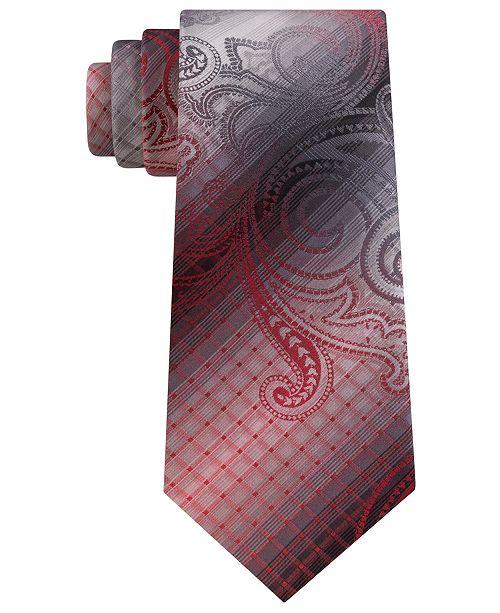 Van Heusen Men's Hurbanova Paisley and Check Tie