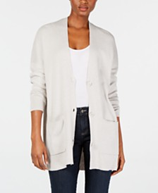 Eileen Fisher Long V-Neck Cardigan