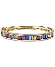EFFY® Multi-Gemstone (8-3/4 ct. t.w.) & Diamond (1/2 ct. t.w.) Bangle Bracelet in 14k Gold
