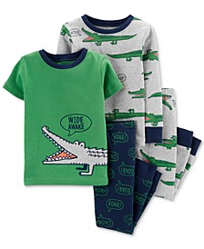 Toddler Boys 4-Pc. Gator-Print Cotton Pajamas Set