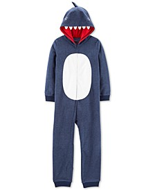 Little & Big Boys 1-Pc. Hooded Shark Fleece Pajamas