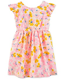 Toddler Girls Floral-Print Bow-Back Dress