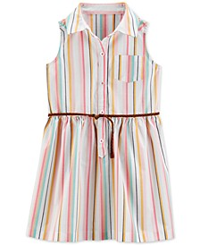 Toddler Girls Striped Shirtdress