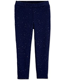 Toddler Girls French Terry Sparkle Jeggings