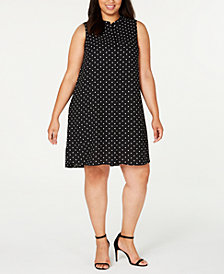 Anne Klein Plus Size Sleeveless Printed Swing Dress