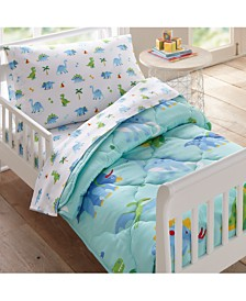 Wildkin's Dinosaur Land 4 Pc Bed in a Bag - Toddler